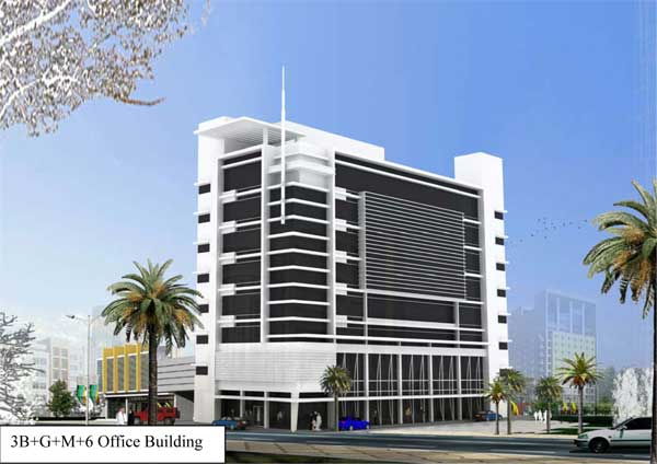 south west architecture project 3b g m 6 office building